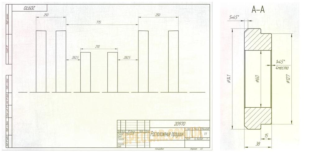 Ремонт ковша погрузчика (схема)